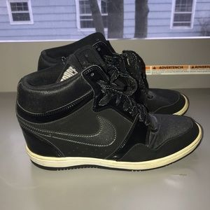 Shoes - Nike Air Force Wedge Sneakers Sz 11